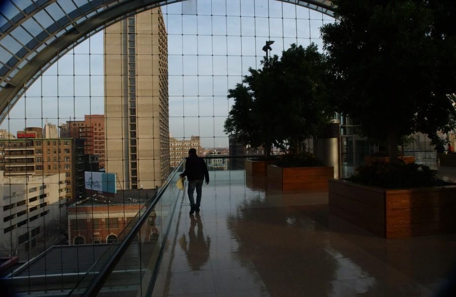 Upper level looking east, Kimmel Center, Philadelphia, Pennsylvania, USA.  December 6, 2006.